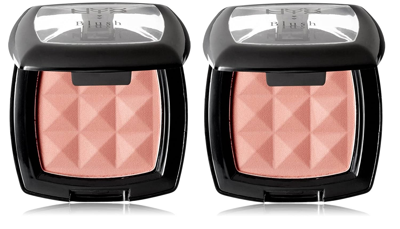 NYX Cosmetics Powder Blush, Dusty Rose, 0.14oz (Pack of 2) + FREE Curad Dazzle Bandages 25 Ct
