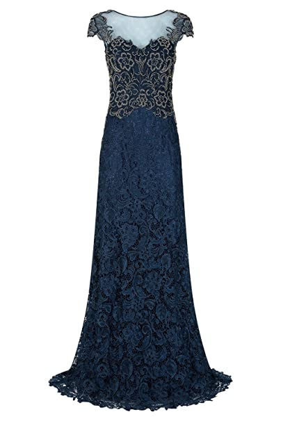 Dynasty Mujer Swift azul marino/dorado para vestidos largos no chal estilo 1012735 Azul Azul