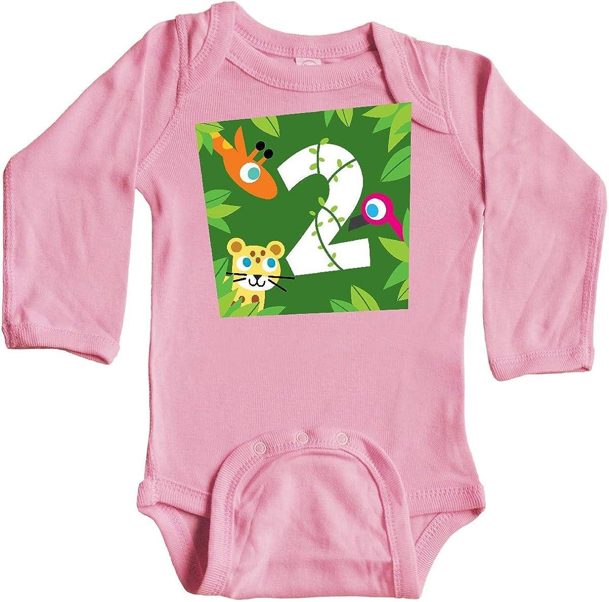 inktastic Zoo Animals 2nd Birthday Long Sleeve Creeper PBS Kids