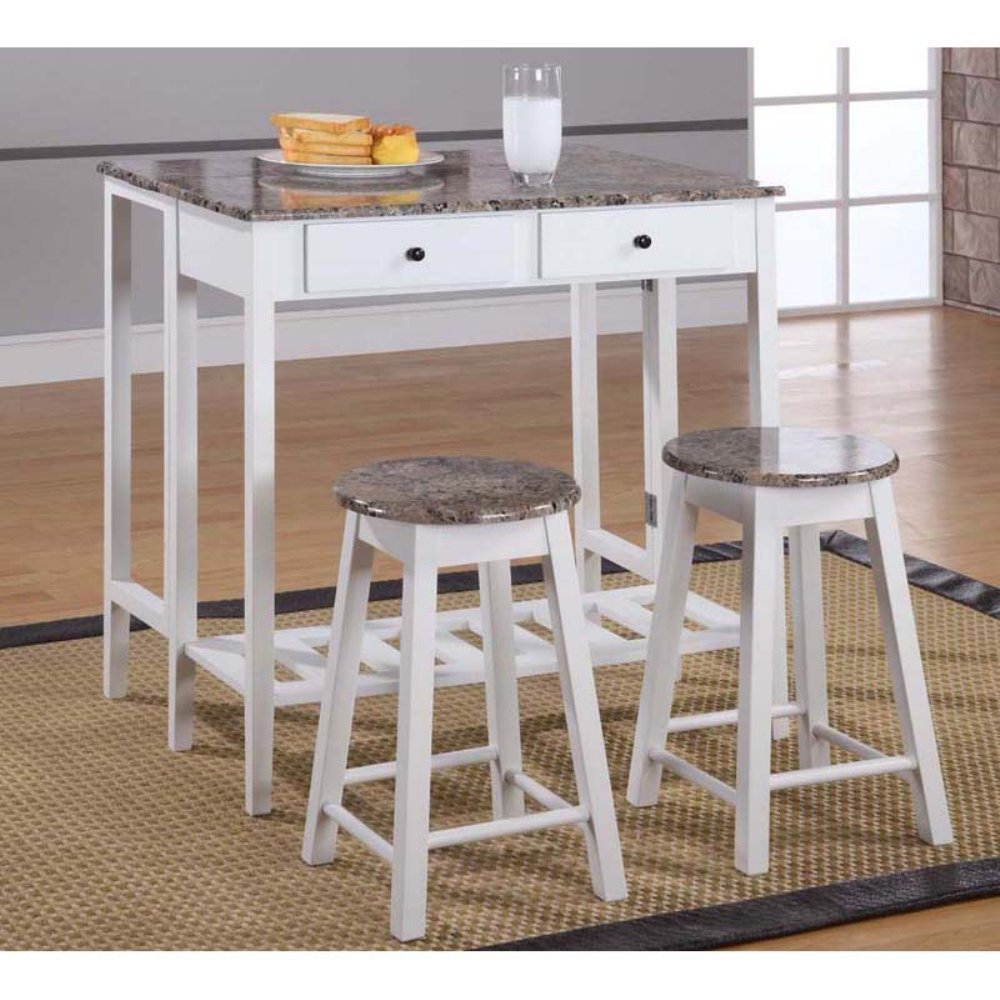 Amazon.com: Breakfast Pub Table Set: Kitchen & Dining