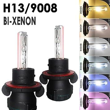 Amazon O NEX BI Xenon H13 9008 HID Bulbs 35W AC Dual Beam Hi Lo H L Headlight Replacement 8000K Iceberg Blue Automotive