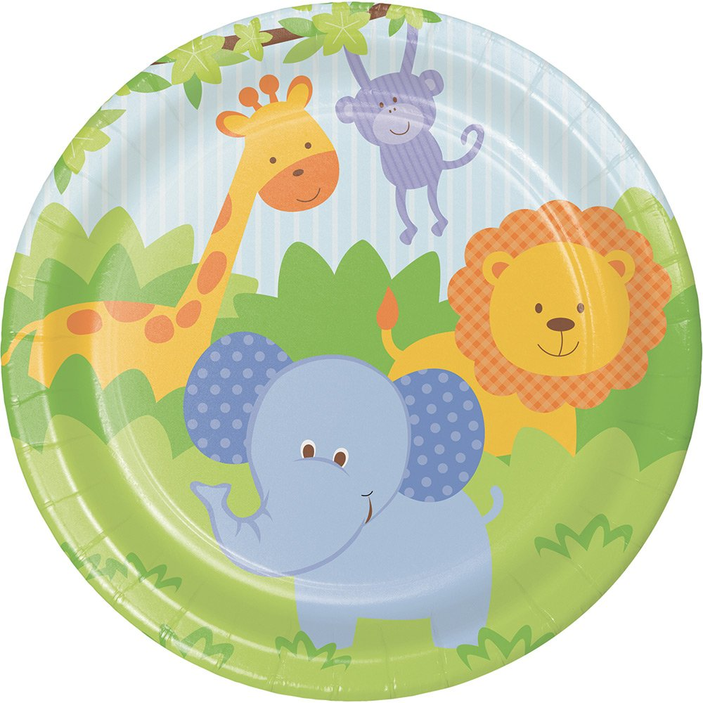 Creative Converting 415027 96 Count Dessert/Small Paper Plates, Forest Friends