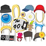 90's JAM! Photo Booth Props Kit - 20 Pack Party Camera Props Fully Assembled