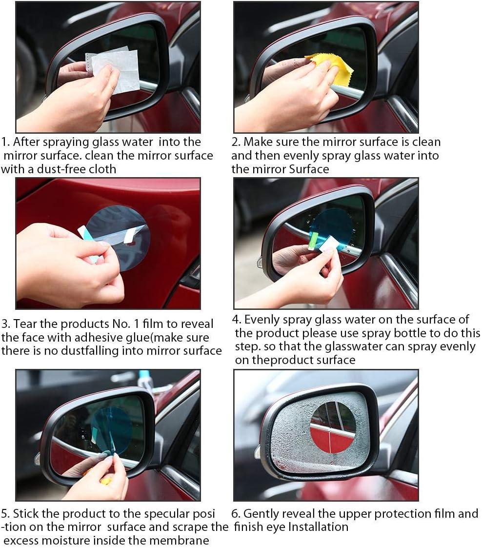 pezzi auto anti acqua mist film anti nebbia auto//Moto specchietto retrovisore small LayOPO retrovisore film