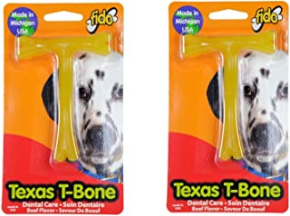 """product image for (Pack of 2) Fido Texas T-Bone Dental Dog Bone, Beef Flavored Size Small 4"""""""