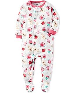06b545446db0 Buy Carters Baby Girls 1-Piece Footed Fleece Pajamas Pjs Grey ...