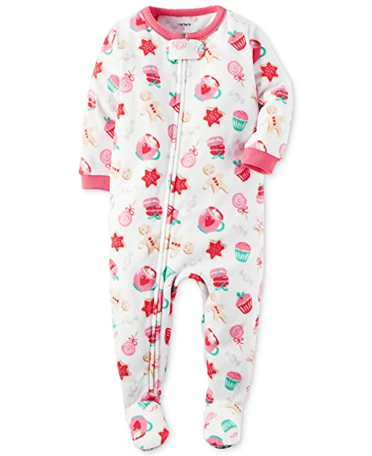 98bc73cdd9 Amazon.com  Carter s Baby Girls  1-Piece Footed Fleece Pajamas Pj s ...