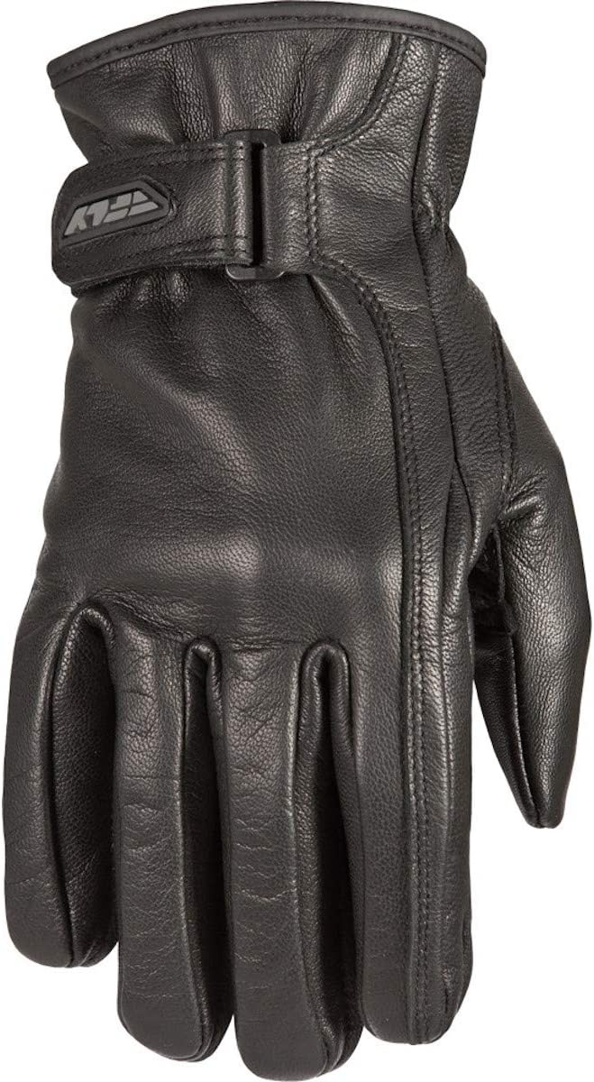 Black//Small Fly Racing I-84 Leather Womens Street Motorcycle Gloves