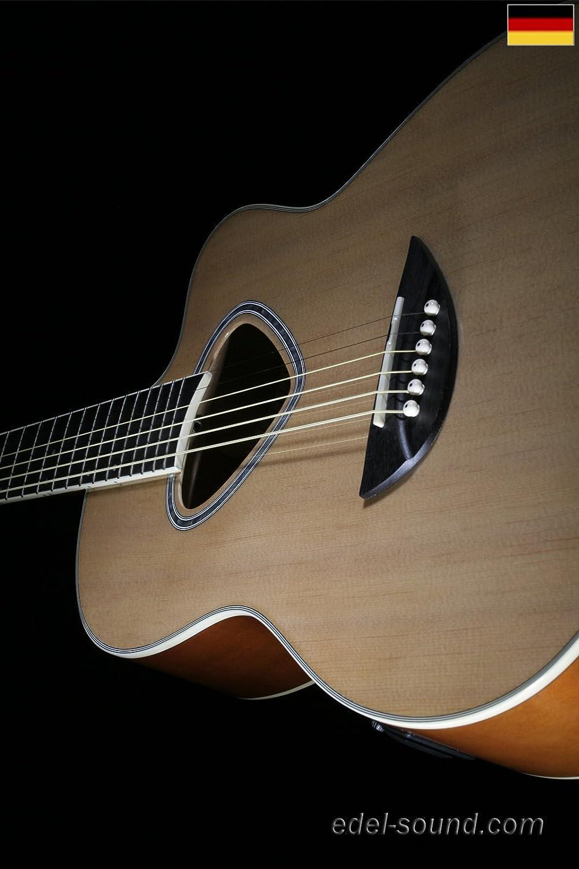 EQ Cut breiter Hals 40` Westerngitarre Luisa natur Linde Decke Fichte Korp