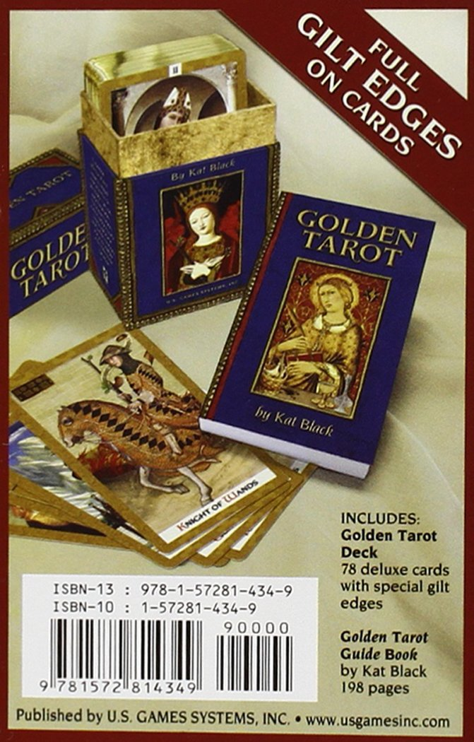 Golden Tarot Deck Kat Black 9781572814349 Amazon Books
