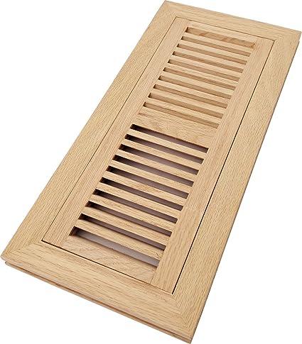 Homewell Red Oak Wood Floor Register Vent Flush Mount With Frame