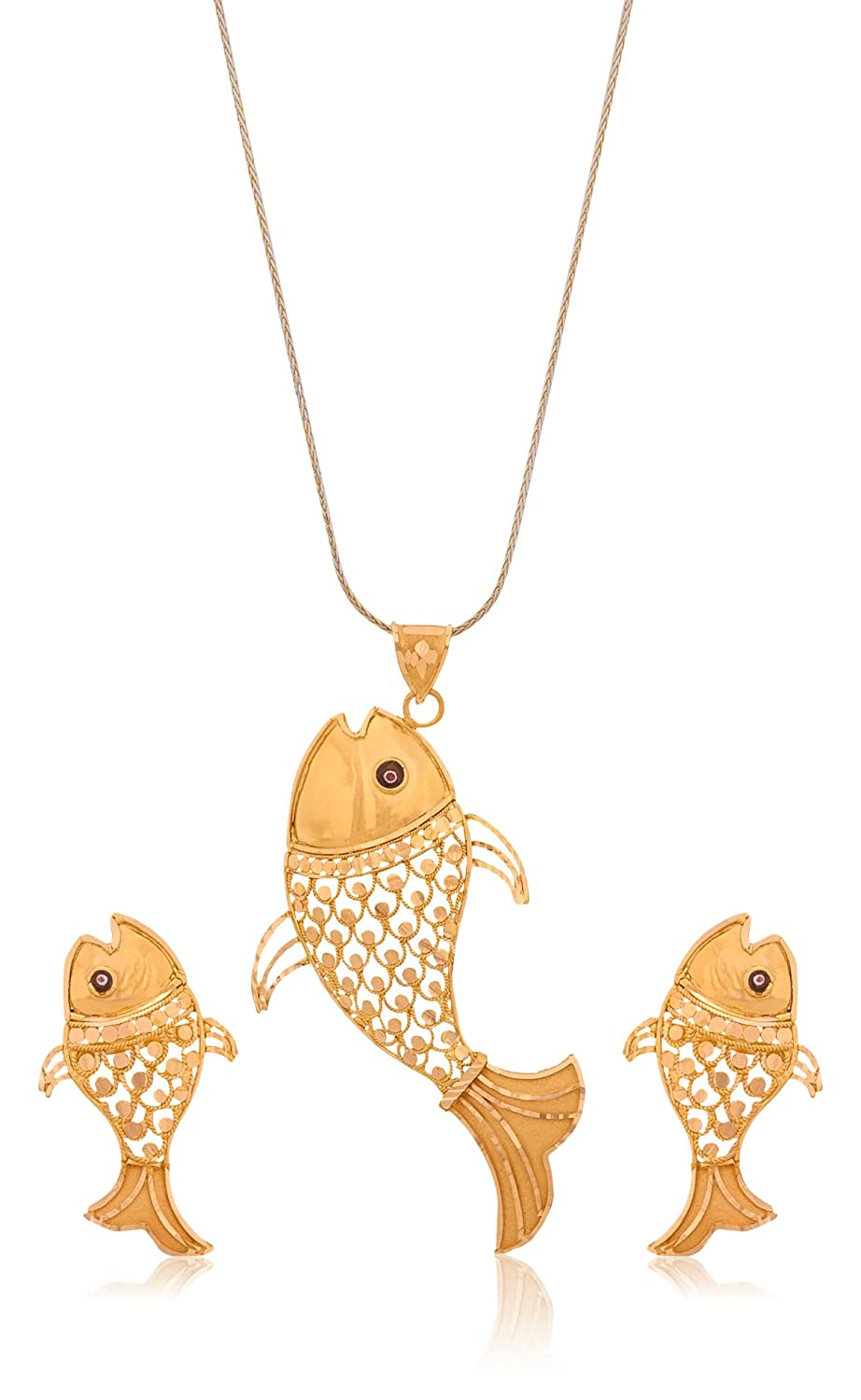 Buy Senco Gold 22k Yellow Gold Jewellery Set Online at Low Prices ...
