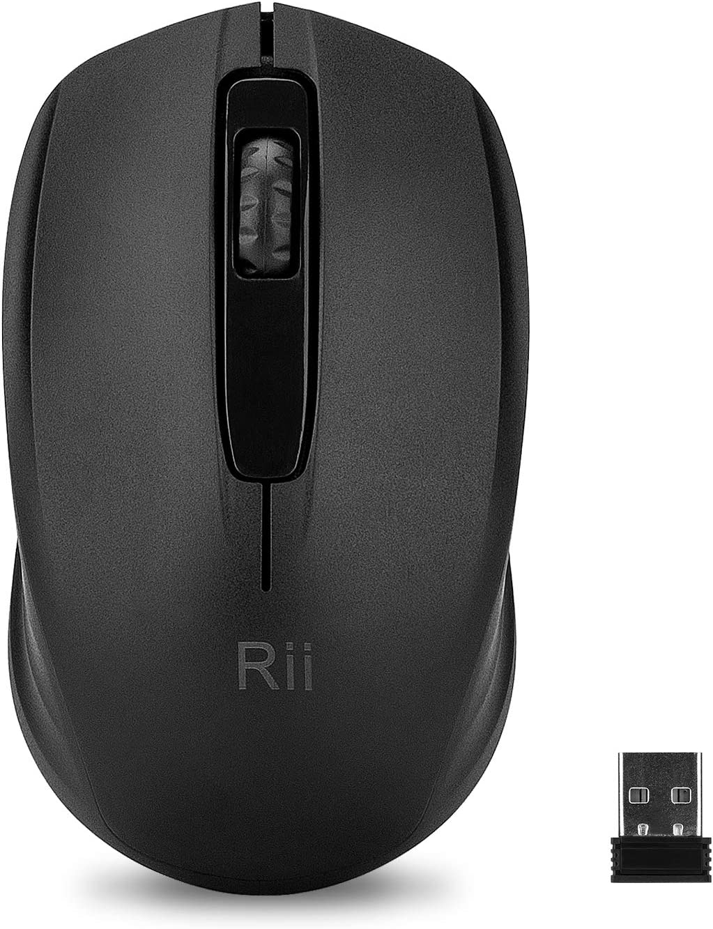 Rii Wireless Mouse 3 Adjustable DPI for PC, Laptop, Windows,Office Included Wireless USB dongle (Black)