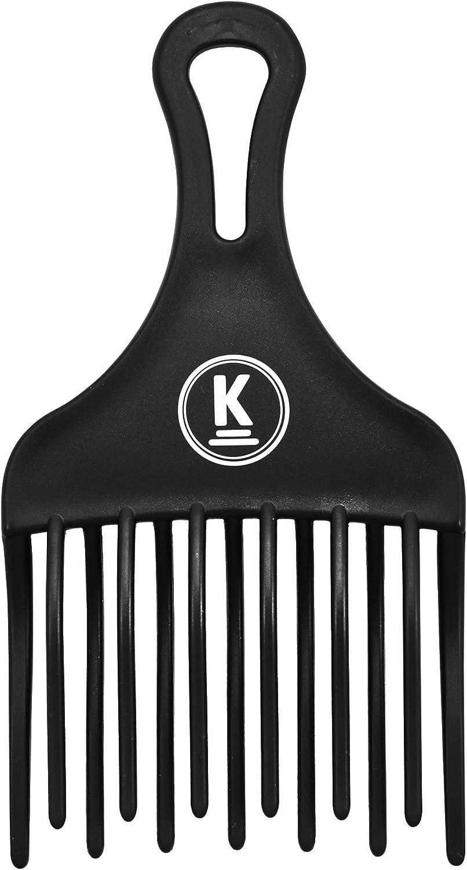 K-Pro Peine Afro Grueso Comb Para Rizos Naturales Permanentes y Filamentos