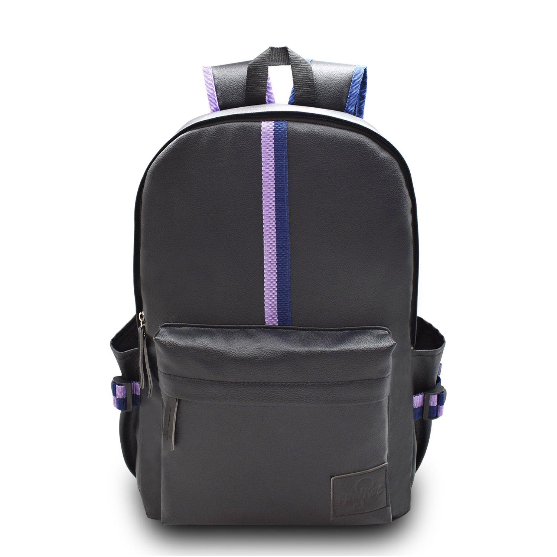 Casual Style Backpack School Bag Unisex College Bookbag Fashion Laptop Bag PU Leather Travel Daypack for Girls,Boys,Women, Men