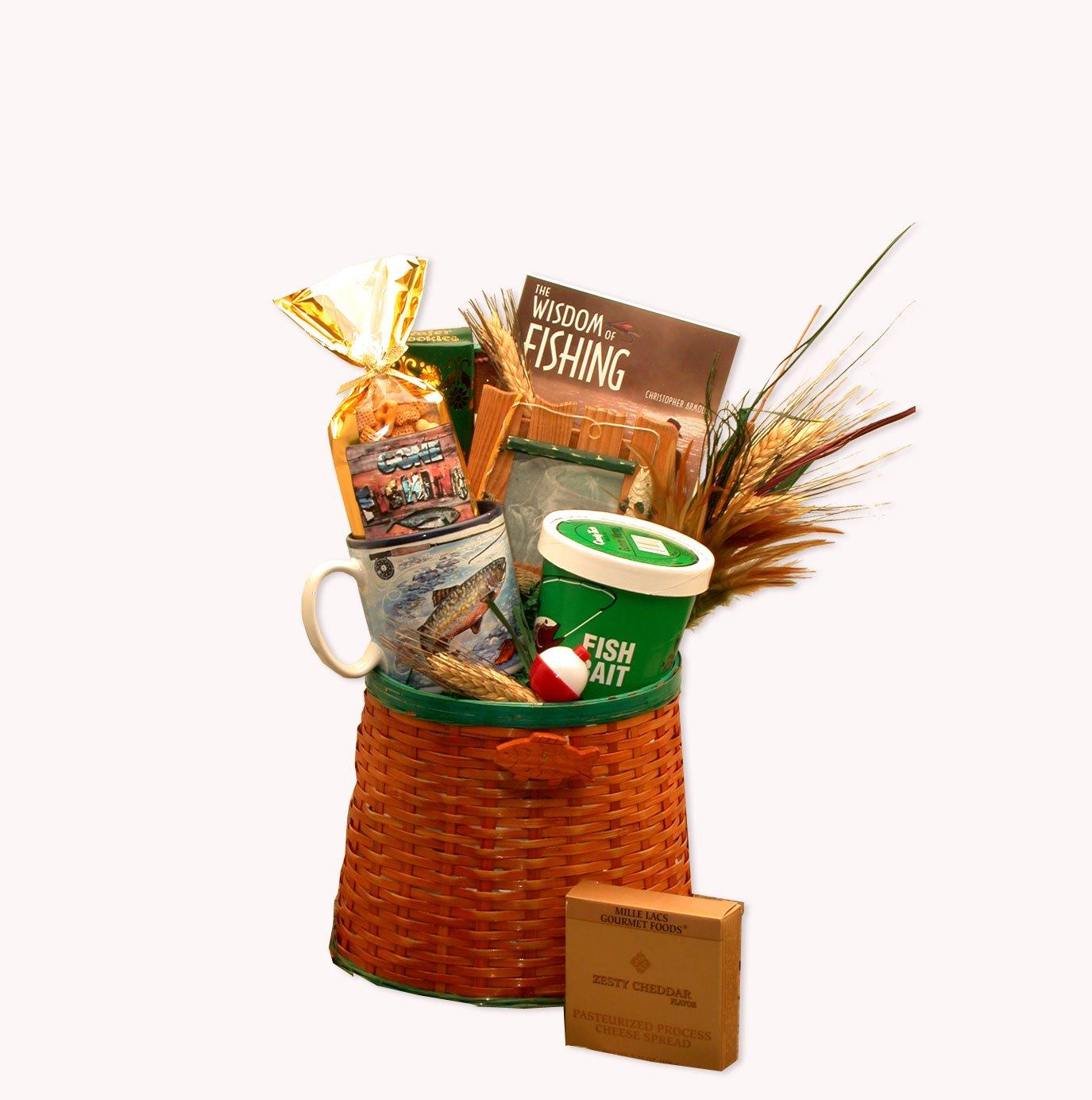 Fisherman's Gift Basket Fishing Gift