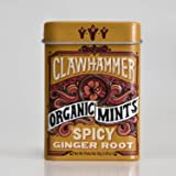 Clawhammer Organic Mints | USDA Certified Organic, Gluten Free, Non-GMO, Kosher | Spicy Ginger Root, 30 Count Tin (Pack…