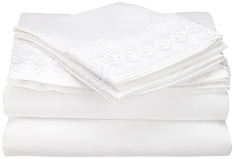 elegant venice lace 4piece queen size sheet set constructed of microfine twill weave