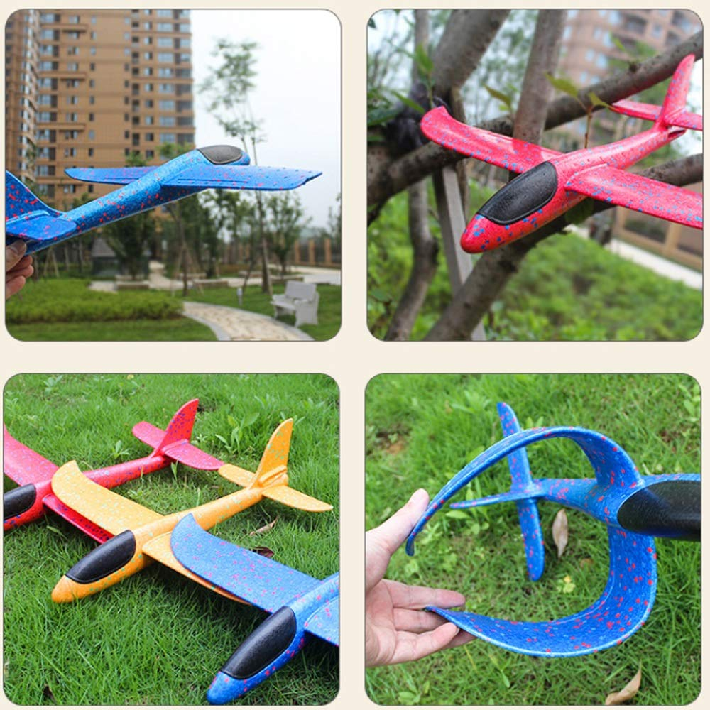 Kikioo Hand Launch Glider Planes Airplane, Flying Glider Planes Throwing Foam Airplane Mode Durable Aircraft For Kids Outdoor Sport Toys 3 Year Old Boy,Outdoor Sport Game Toys, Birthday Party Blue by Kikioo (Image #2)