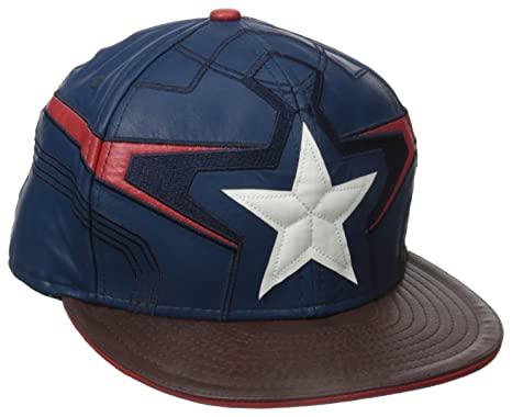 new era cap men captain character armor blue grey america red 39thirty baseball winter soldier shield