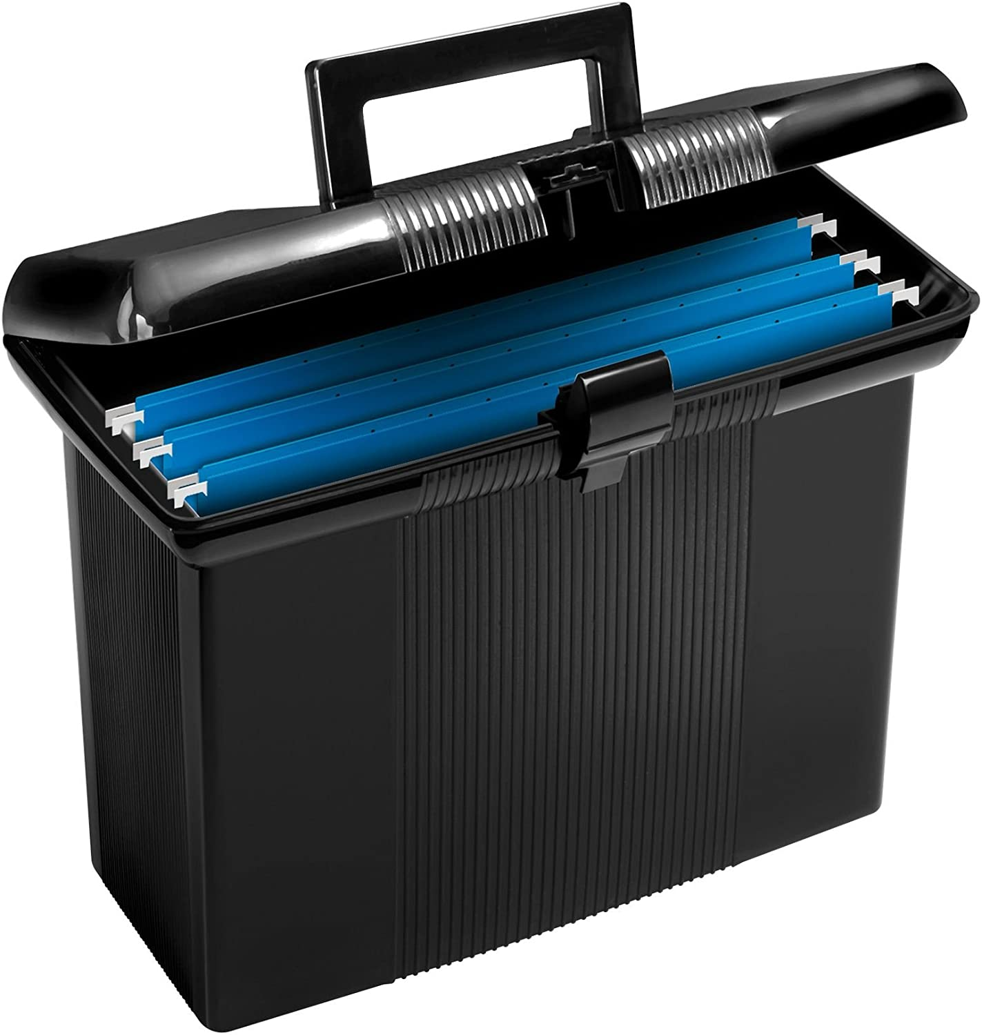 """Pendaflex Portable File Box, Black, 11"""" H x 14"""" W x 6-1/2"""" D (41732) : Office Waste Bins : Office Products"""