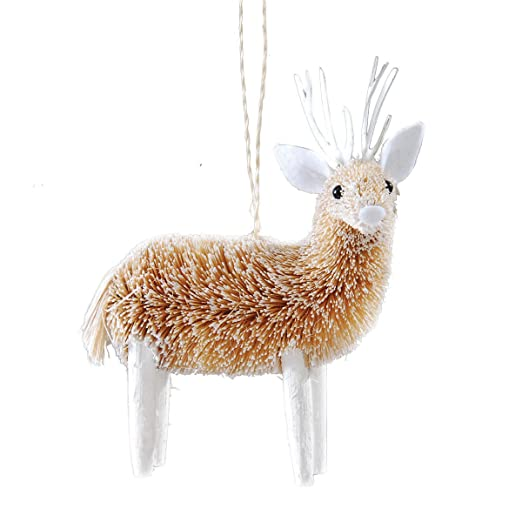 Frosted Deer Ornament by Gallery II