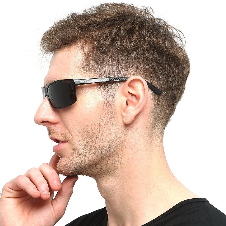 1ccd01ae985 Soxick Polarized Sports Sunglasses For Men UV400 Metal Men s Fashion Retro Wayfarer  Driving Sunglasses