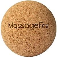 MassageFee® Kork Massageball - Faszienkugel. Natürliches Triggerpunkt und Faszien Selbstmassagegerät für Nacken, Schulter, Rücken, Gesäß und Füße.