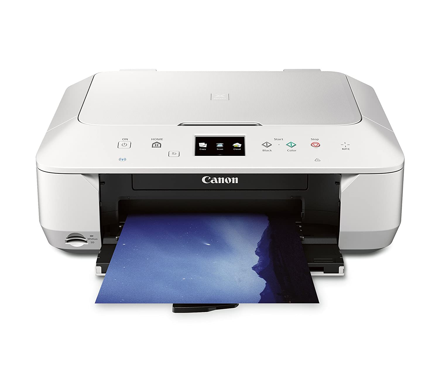CANON PIXMA MG6620 WIRELESS ALL-IN-ONE COLOR CLOUD Printer, Mobile Smart Phone, Tablet Printing, and AirPrint(TM) Compatible, White