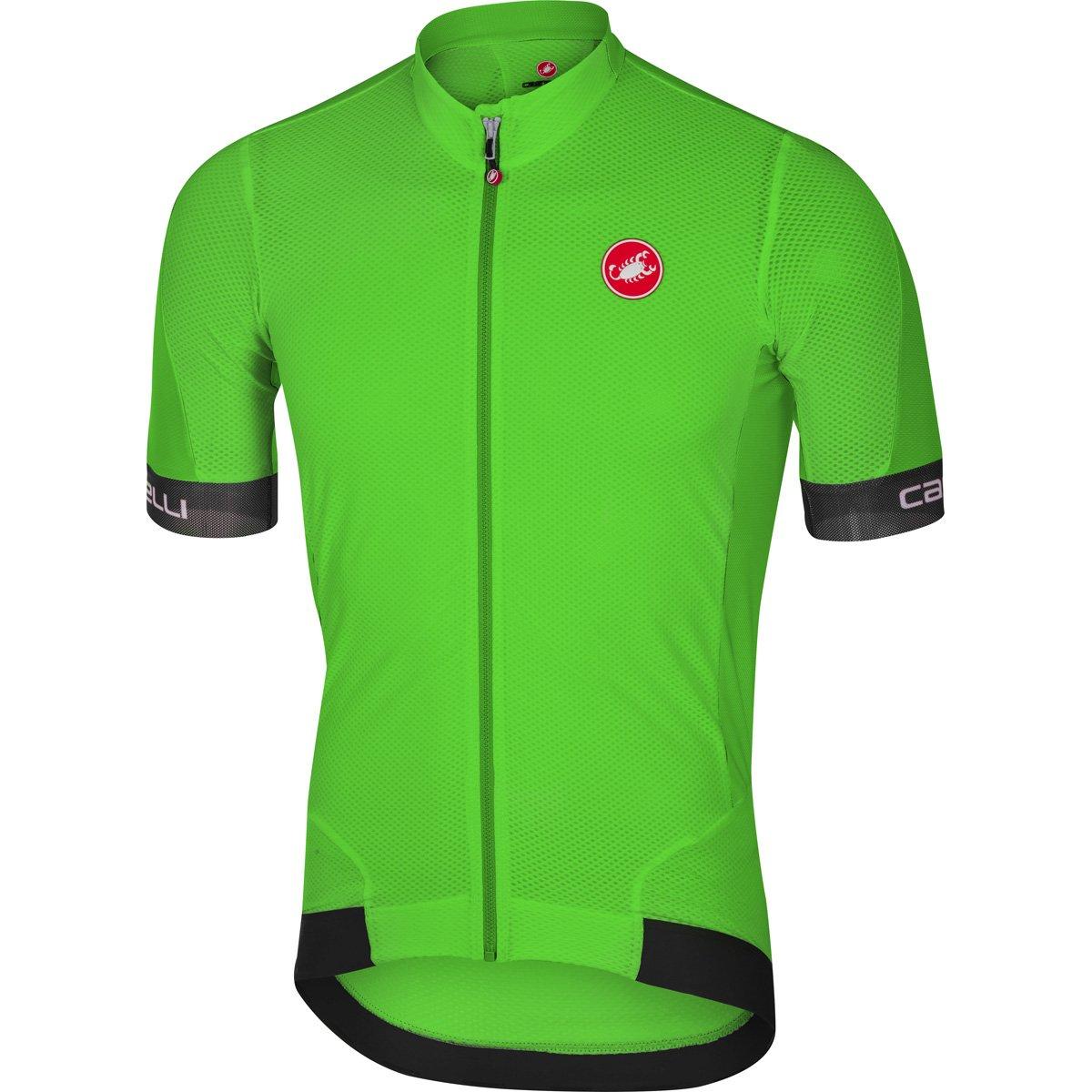 CastelliメンズVolata 2 Bike jersey fz B06XCYFVGF Medium Pro Green/Black Pro Green/Black Medium