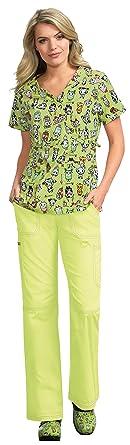 1b5e6f16ad4 Amazon.com: KOI Fashion 289TKD Women's Luna Tokidoki Top: Clothing