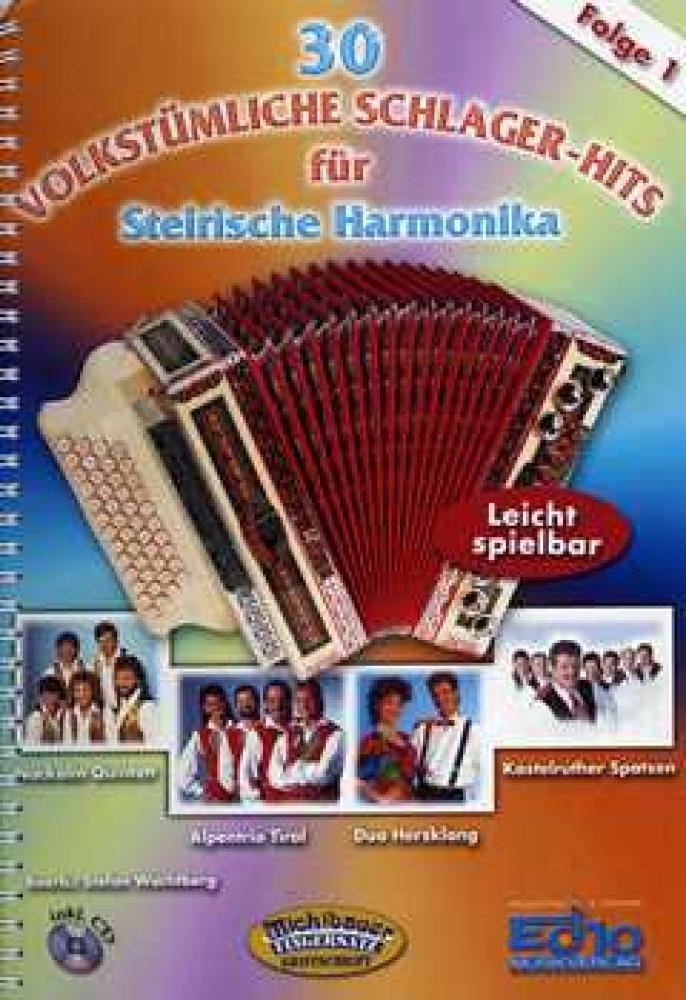 30 Volkstuemliche 1 Schlager Hits. Handharmonika Musiknoten Michlbauer GmbH B00009UU7A