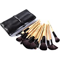 Puna Store Makeup Brush Set, 24 Pieces with Black PU Leather Case