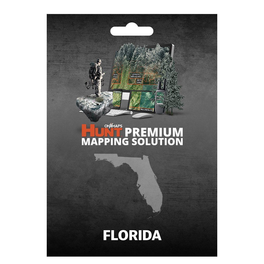onXmaps HUNT Florida: Digital Hunting Map For Garmin GPS + Premium Membership For Smartphone and Computer - Color Coded Land Ownership - 24k Topo - Hunting Specific Data