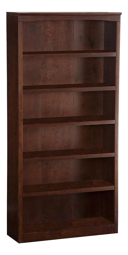 Atlantic Furniture Harvard Book Shelf 72 Inch Antique Walnut