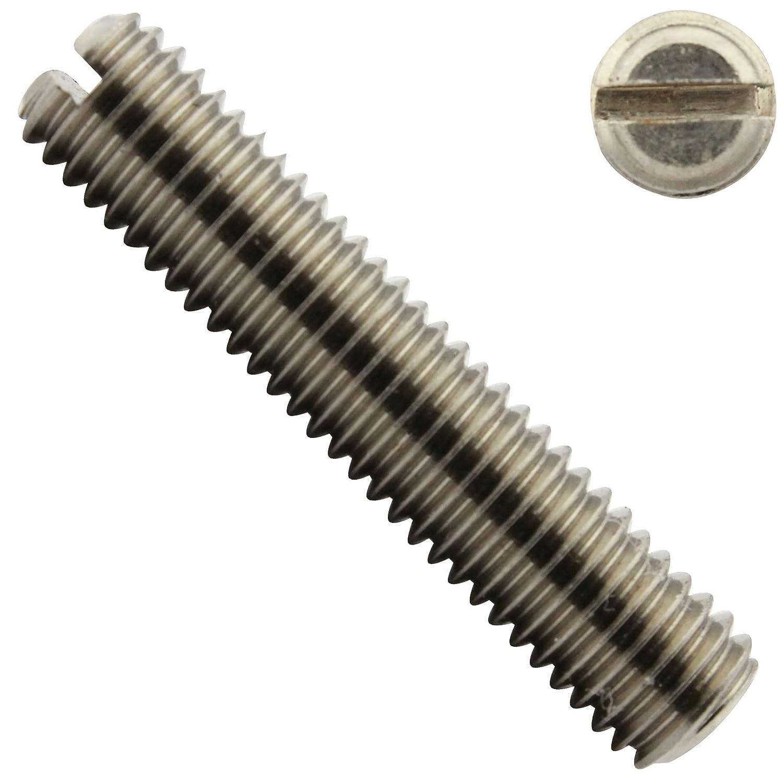 - aus rostfreiem Edelstahl VA Madenschrauben ISO 4766 50 St/ück - DIN 551 SC-Normteile SC551 Gewindestifte mit Schlitz und Kegelkuppe M3x3 -