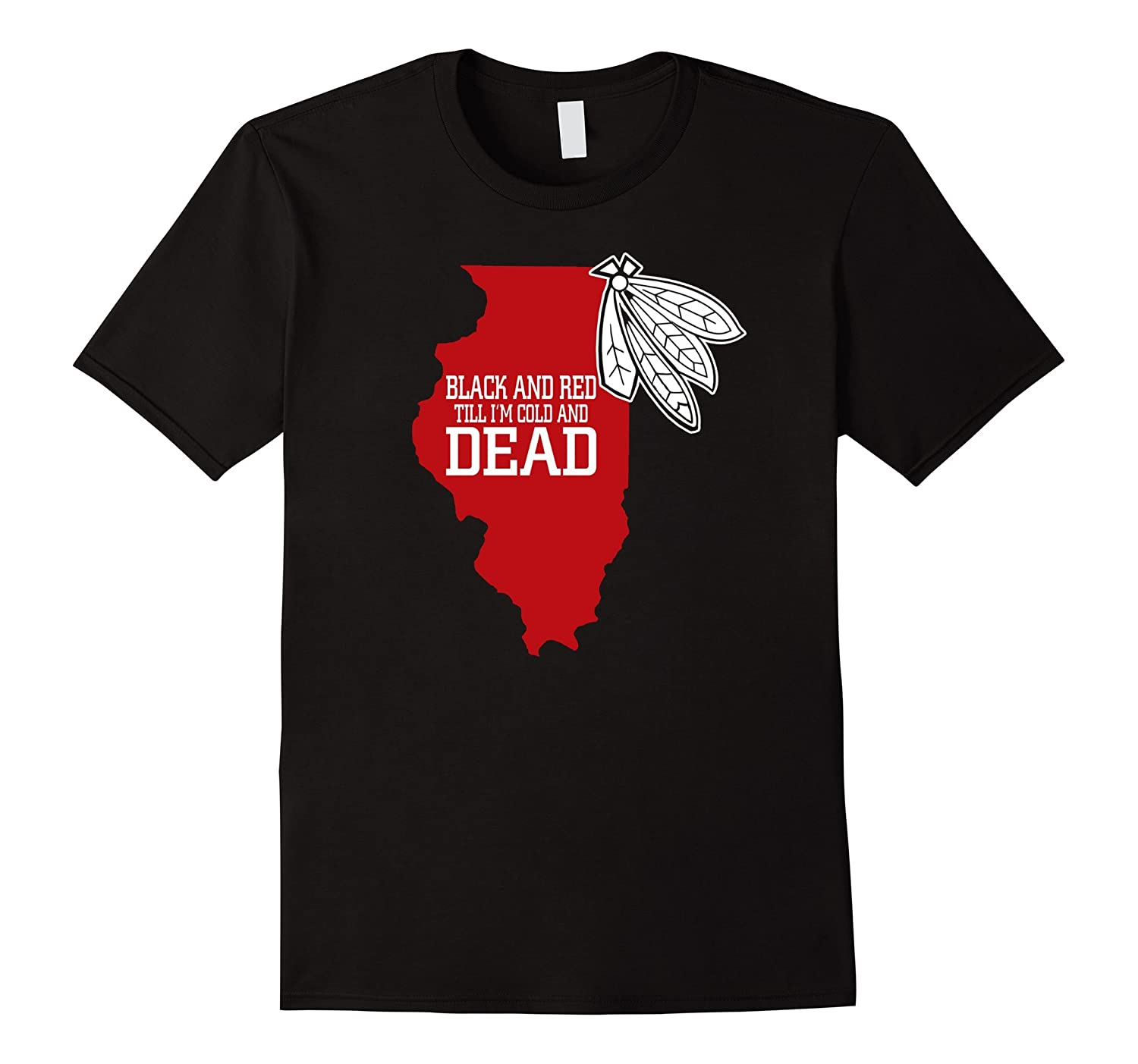 Chicago Illinois Ice Hockey Sports Fan Supporter T Shirt-TH