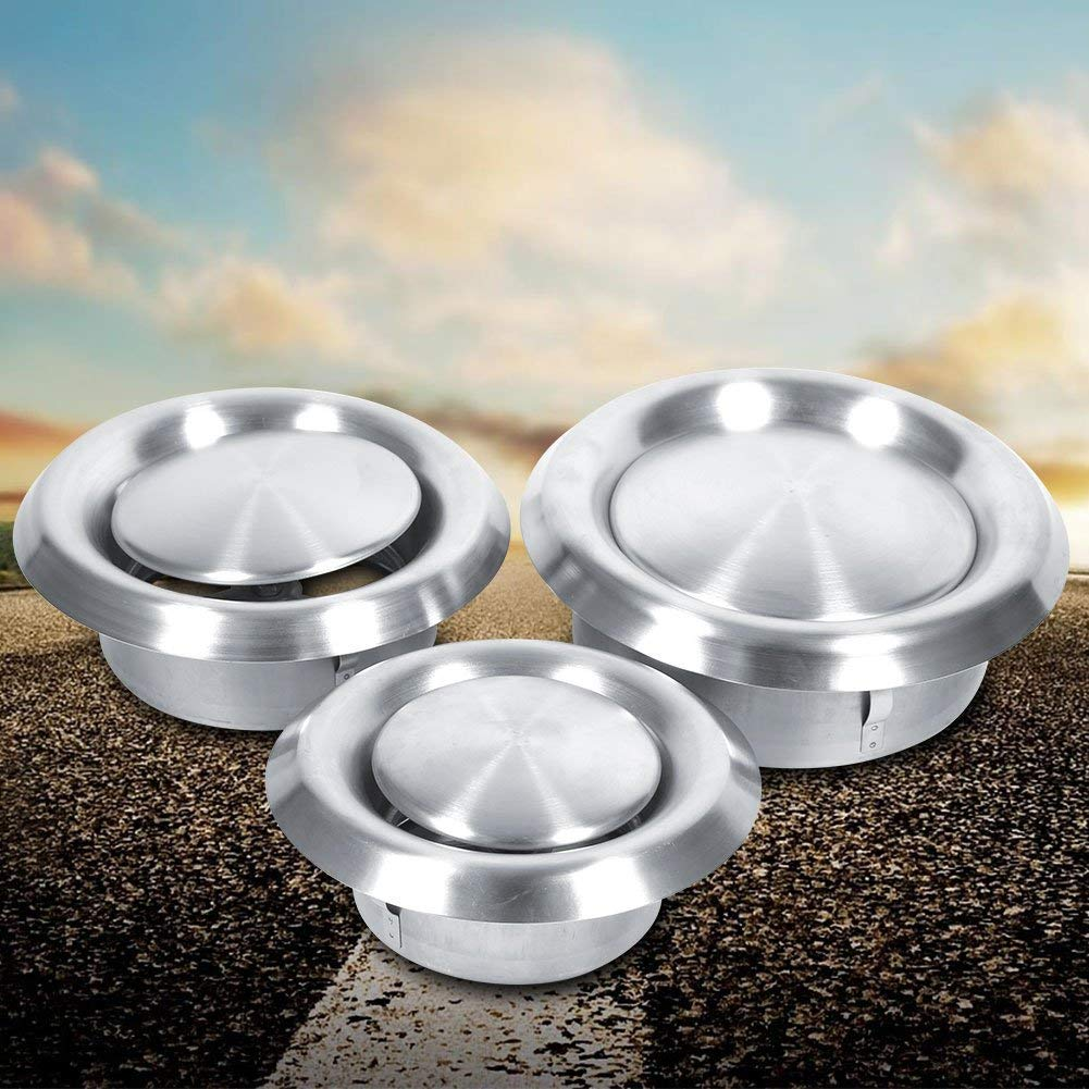 125mm Stainless Steel Round Air Vent Grill Cover Ventilation Duct Cover Home Wall Ceiling Diffuser Exhaust Supply for Bathroom Office Kitchen Ventilation
