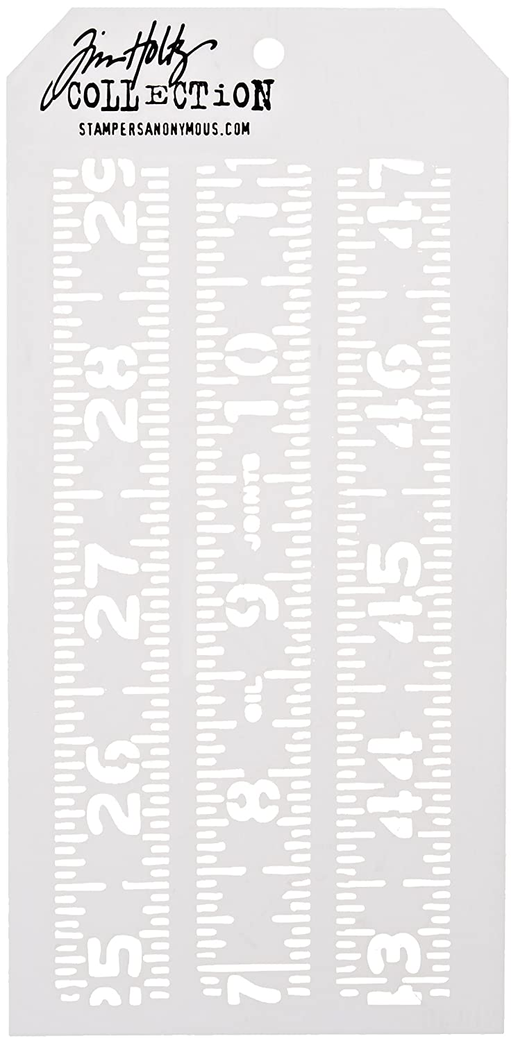 Stampers Anonymous Tim Holtz a strati Stencil 4.125 misurato X8.5