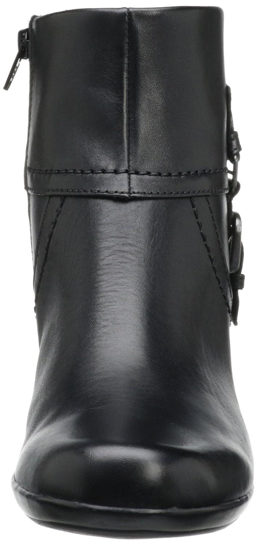 Amazon.com | CLARKS Women's Ingalls Tweed Bootie, Black Leather, 10 M US |  Ankle & Bootie