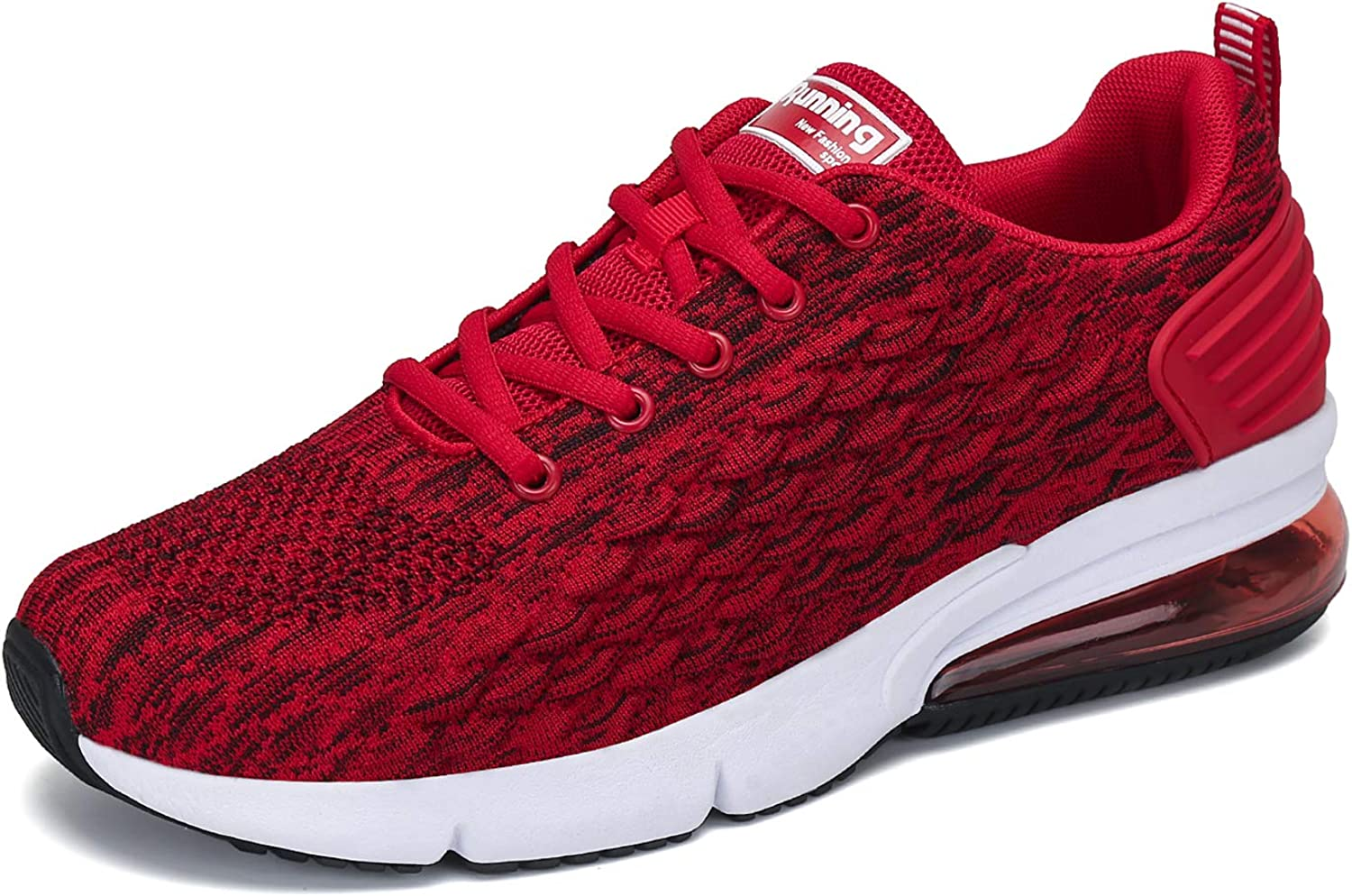 FLARUT Men s Running Shoes Fashion Sports Sneakers Knit Air Cushion Lightweight Casual Athletic Gym Tennis Training Walking