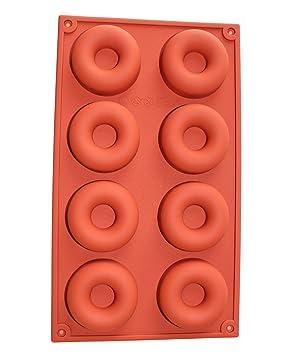 dingsheng 1 pcs 8 Cavity silicona Mini anillo de Donut de horno para magdalenas tazas para tartas galletas molde