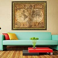 Sannysis Vintage Style Retro Cloth Poster Globe Old World Nautical Map Gifts
