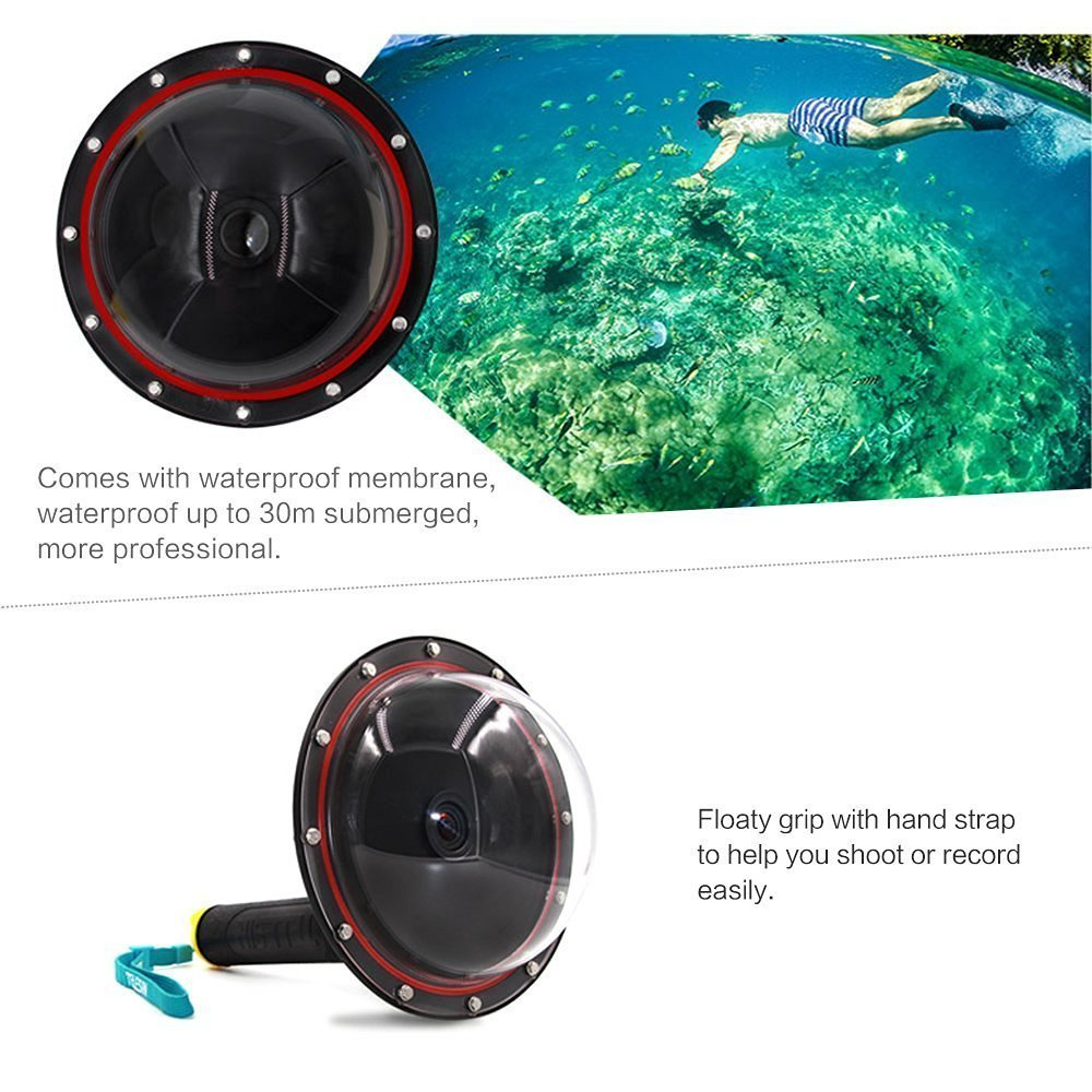 How To Shoot 5050 With Your Gopro Go Pro Hero Dome Did I Told Port Underwater Clear Photography For Xiaomi Yi Amazoncom Telesin 3rd Edition 6 Inches Waterproof Housing Floating Handle Cover Case Anti Fog Inserts Compatible