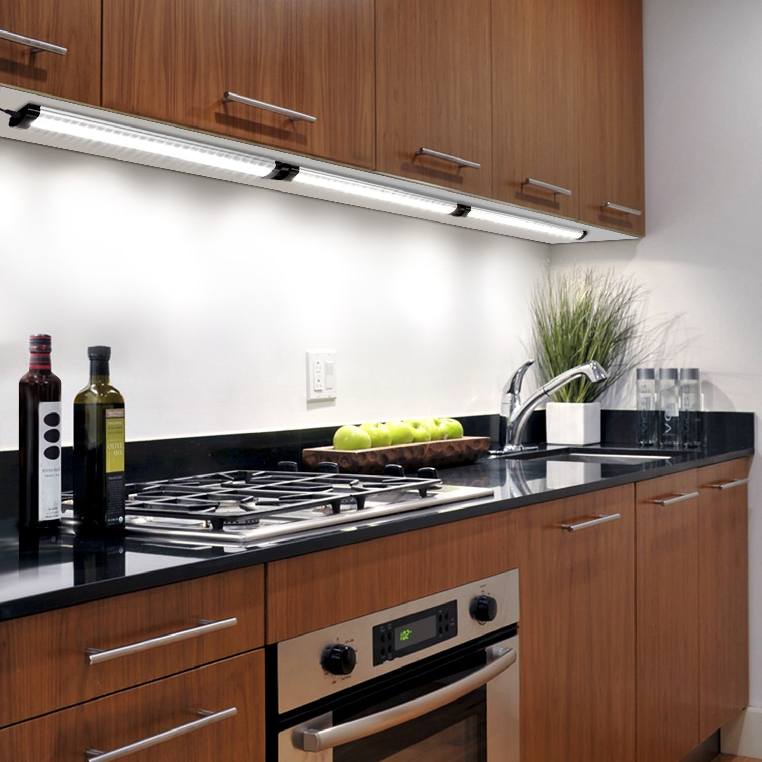 albrillo led under cabinet lighting dimmable cool white 6000k 12w