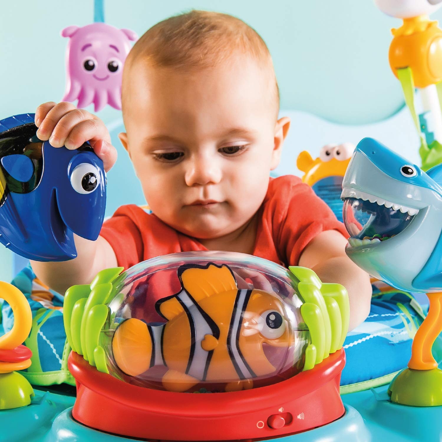 fecc934df5a7 Amazon.com   Disney Baby Finding Nemo Sea of Activities Jumper   Baby