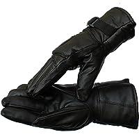SHINING Men Genuine Leather Winter Bike Riding Gloves
