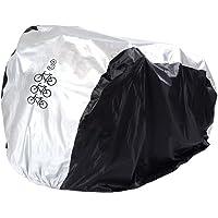 FunYoung Fahrradabdeckung Wasserdicht Polyester Fahrradschutzhülle Fahrradgarage Silbern Schwarz