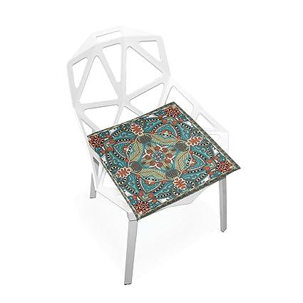 Amazon.com: PLAO - Cojín de asiento, diseño vintage, cojines ...
