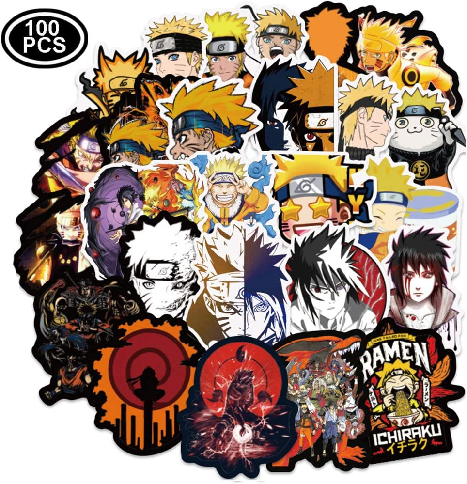 Naruto Stickers [100pcs], Graffiti Sticker Decals Vinyls for Laptop,Cars,Motorcycle,Bicycle,Skateboard Luggage,Bumper Stickers Decals Waterproof Trendy Stickers for Teens, Best Gift for Kids Children